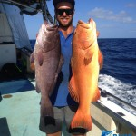 Blue Lightning Charters Deckhand Jake Rankin Cod and Coral Trout