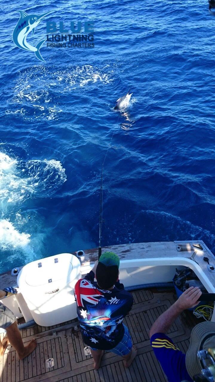Game fishing dampier wa reely black blue lightning for Wa fish and game