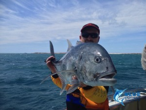 A GT from this week's fishing charter
