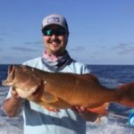John the biggest coral trout of the trip 72cm Montebello Islands WA fishing charter