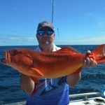 Andrew with 74cm coral trout Montebello Islands WA fishing charter