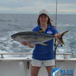 Ashleigh yellow fin tuna Montebello Islands WA fishing charter Blue Lightning Charters