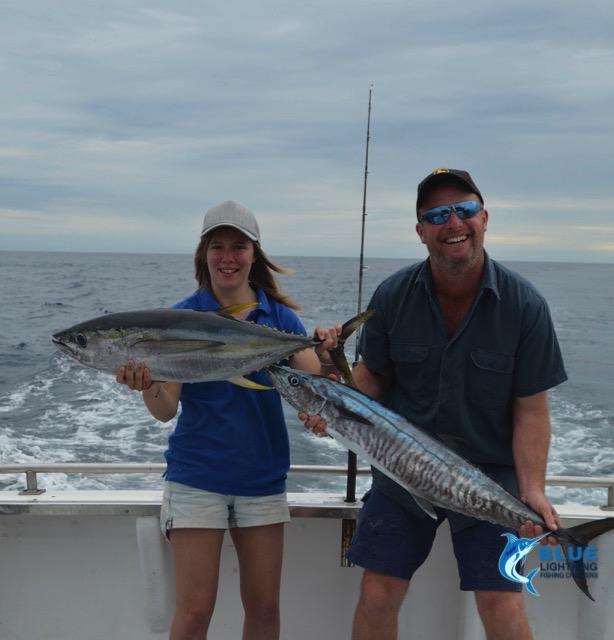 Ashleigh yellow fin tuna and ben spanish mackerel for Washington fishing charters