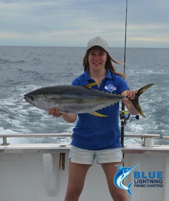 Ashleigh yellow fin tuna montebello islands wa fishing for Washington fishing charters
