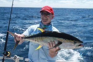 george-yellow-fin-tuna Blue Lighting Montebello Islands Feedback Testimonial WA fishing charter