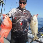 Ray red emperor and spangled emperor Montebello Islands WA fishing charter