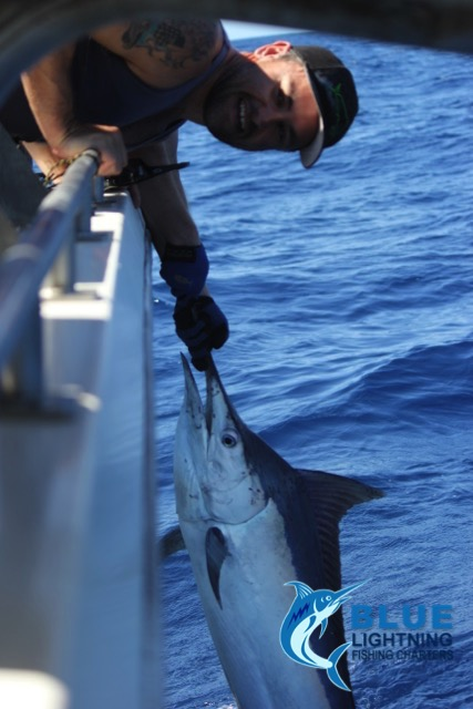 First ever black marlin montebello islands wa fishing for Wa fishing charters