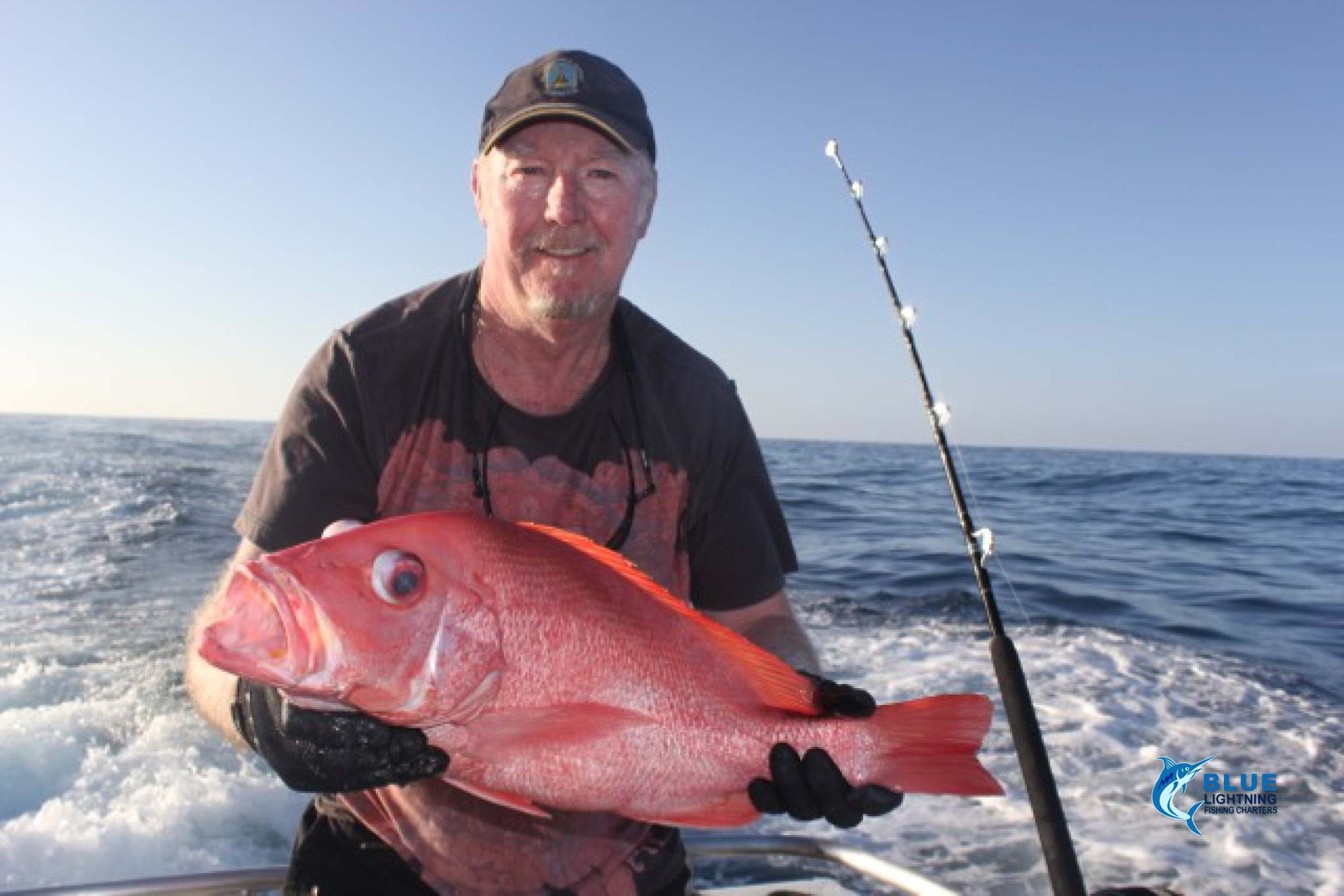 Peter scarlet sea perch blue lightning fishing charters for Sea perch fish