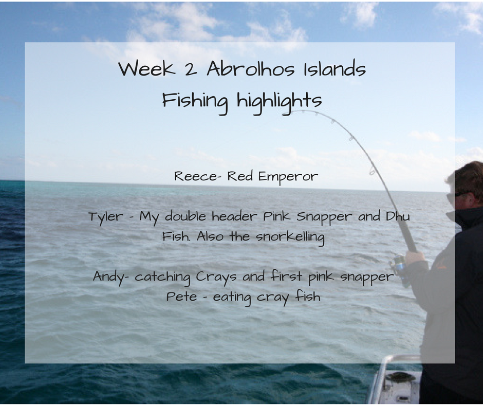 Abrolhos Islands fishing highlights