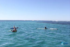 Kayayking fun Abrolhos Islands WA fishing