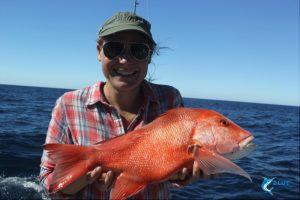 WA fishing novice fisherman red emperor