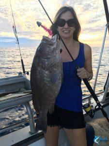 Leah Mills fisherwoman novice fishing charter WA live aboard boat