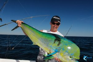 Mahi Mahi Dolphin Fish WA Jason Taylor fishing WA blue lightning fishing charters