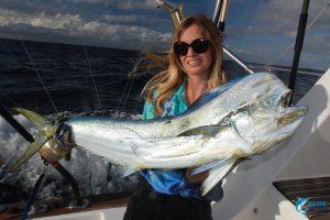 Dolphin Fish WA fishing charter amateur fisherwoman