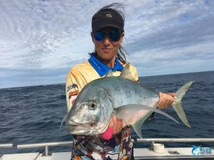 Abrolhos Islands tackle plastic Blue Lightning fishing women