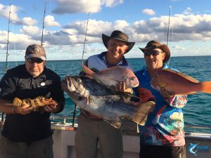 dhu fish pink snapper, bladchin groper, charlie court blue lightning fishing charter abrolhos islands