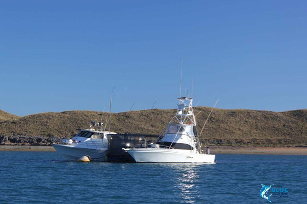 Blue Lightning charters pontoon cod cave montebello islands home