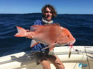 Red Emperor WA fishing charter blue lightning monte bello islands