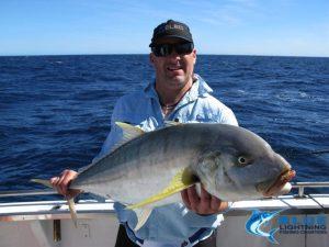 Montebello Islands fishing charter golden trevally blue lightning charters