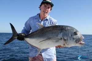 GT popping Australia WA Blue Lightning Charters Montebello Islands Captain Chad Mills