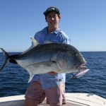 Giant Trevally GT popping WA best fishing Montebello Islands WA bluelightningcharters