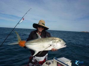 Montebello Islands WA Brassy Trevally WA fishing charter
