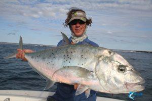 Gold Spot Trevally montebello islands wa fishing charter blue lightning