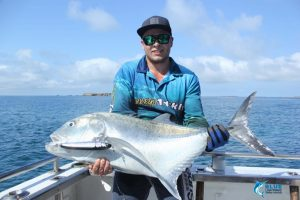 Giant Trevally Gt fishing montebello islands wa blue lightning charters