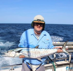 Spanish Mackerel Karratha fishing charter montebello islands WA best fishing blue lightning