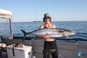Spanish Mackerel Montebello Islands WA best fishing charter captain chad mills