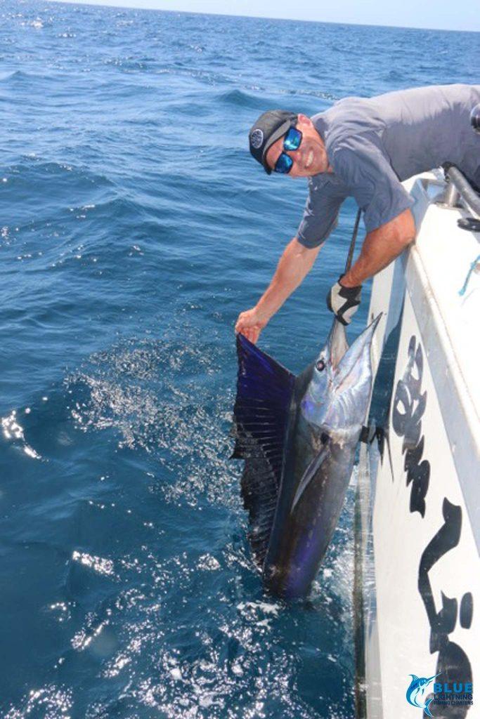 Jason Taylor Sailfish Montebello Islands Blue Lightning Charters