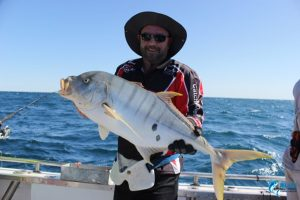 Golden Trevally WA best fishing charter blue lightning