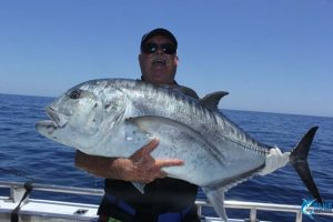 Giant Trevally Montebello Islands WA fishing charter
