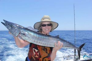 Wahoo Montebello islands female fishing charter