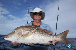 Spangled emperor Abrolhos islands live aboard fishing charter WA